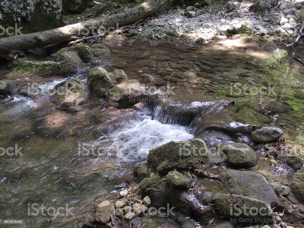 Petite chute d'eau  photo libre de droits