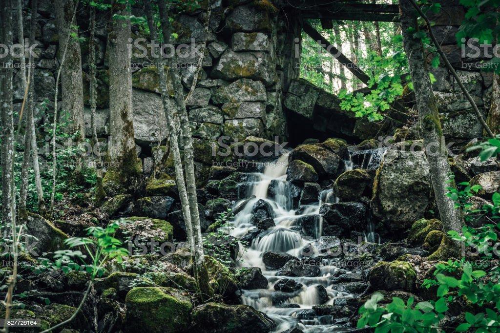Small Waterfall stock photo