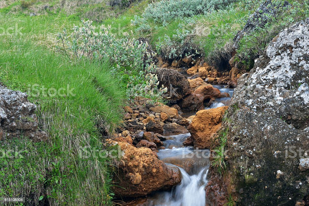Small waterfalls at Godafoss stock photo