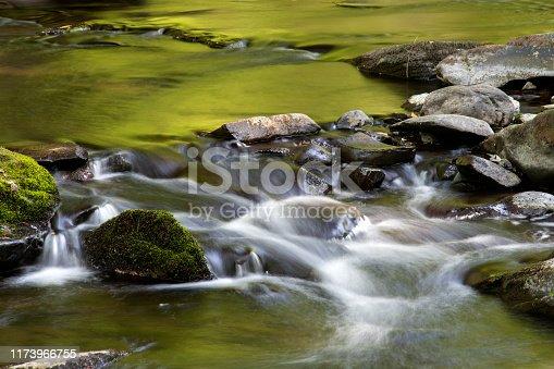 Small waterfalls in Pocono Mountains, Pennsylvania, USA