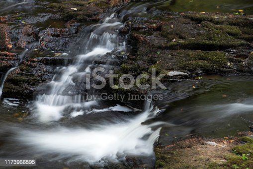 Small waterfalls at Bushkill Falls in Pocono Mountains, Pennsylvania, USA