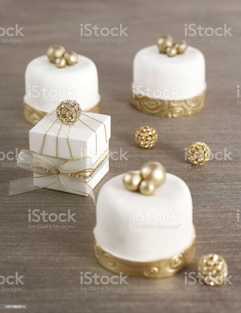 Small Wedding Cakes.Small Wedding Cake Portions Stock Photo Download Image Now Istock