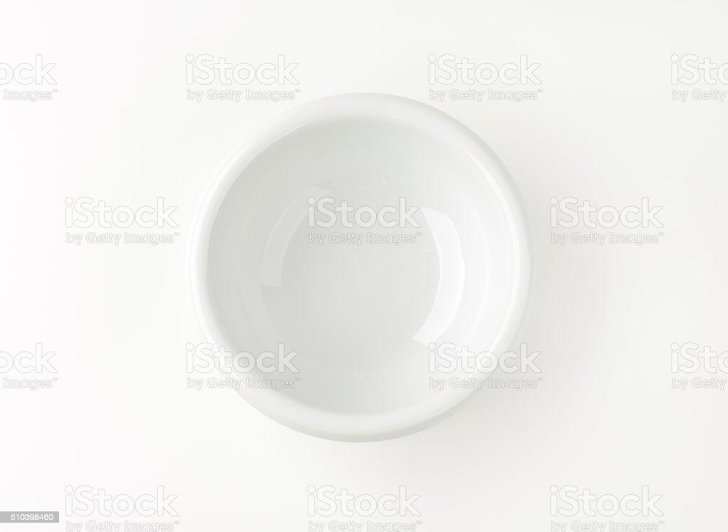 small white bowl stock photo