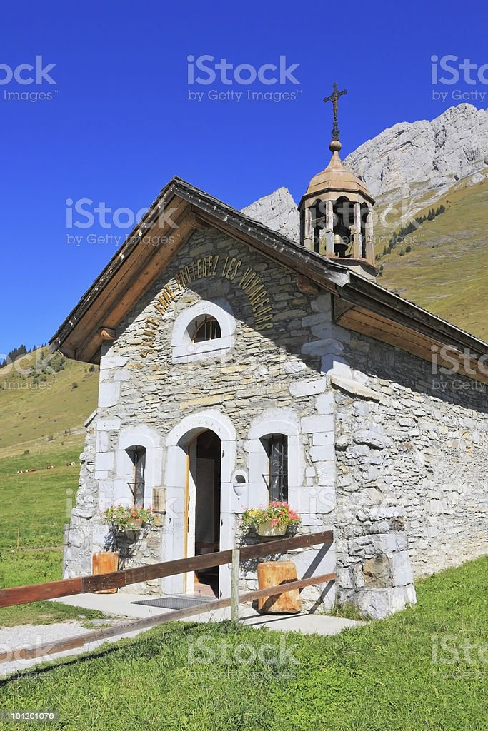 Small white chapel royalty-free stock photo