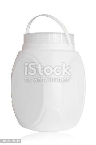 Plastic canister isolated