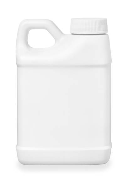 small white plastic canister isolated on white with path small white plastic canister isolated on white with path gallon stock pictures, royalty-free photos & images