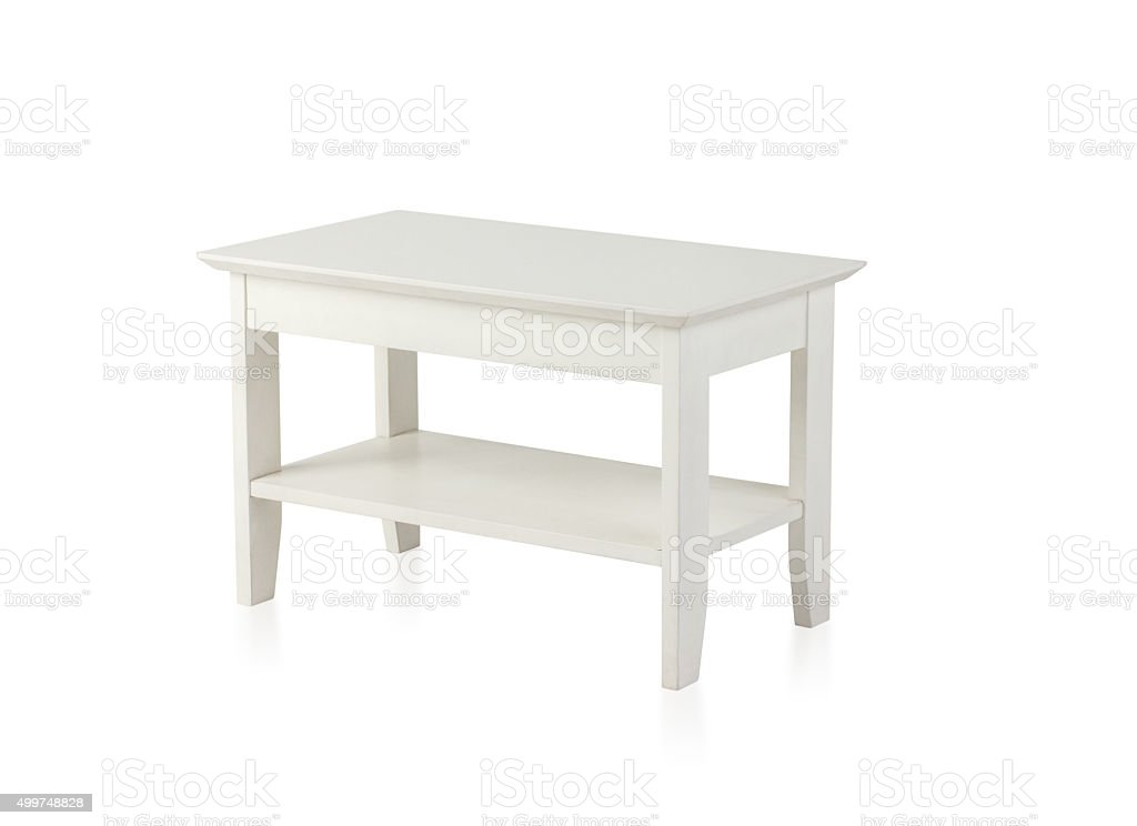 Small White Wooden Table Stock Photo Download Image Now Istock