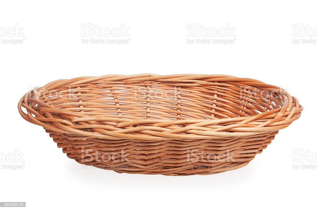 small wicker basket stock photo