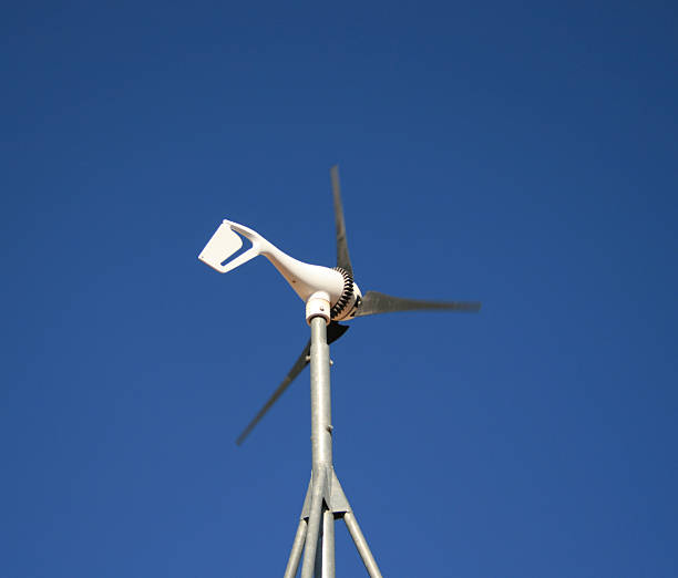 small wind generator stock photo