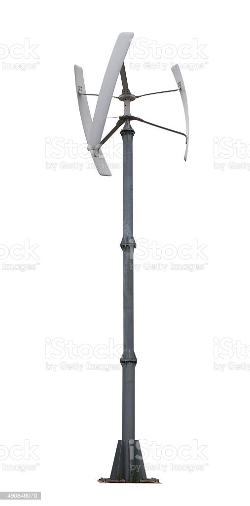 Small Wind Turbine Isolated Stock Photo & More Pictures of