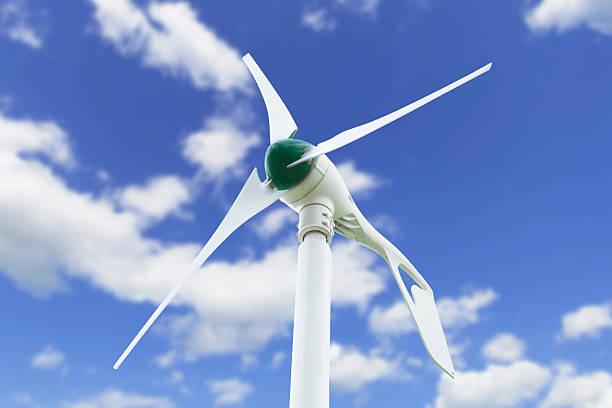 kleine wind turbine - steuerungstechnik stock-fotos und bilder