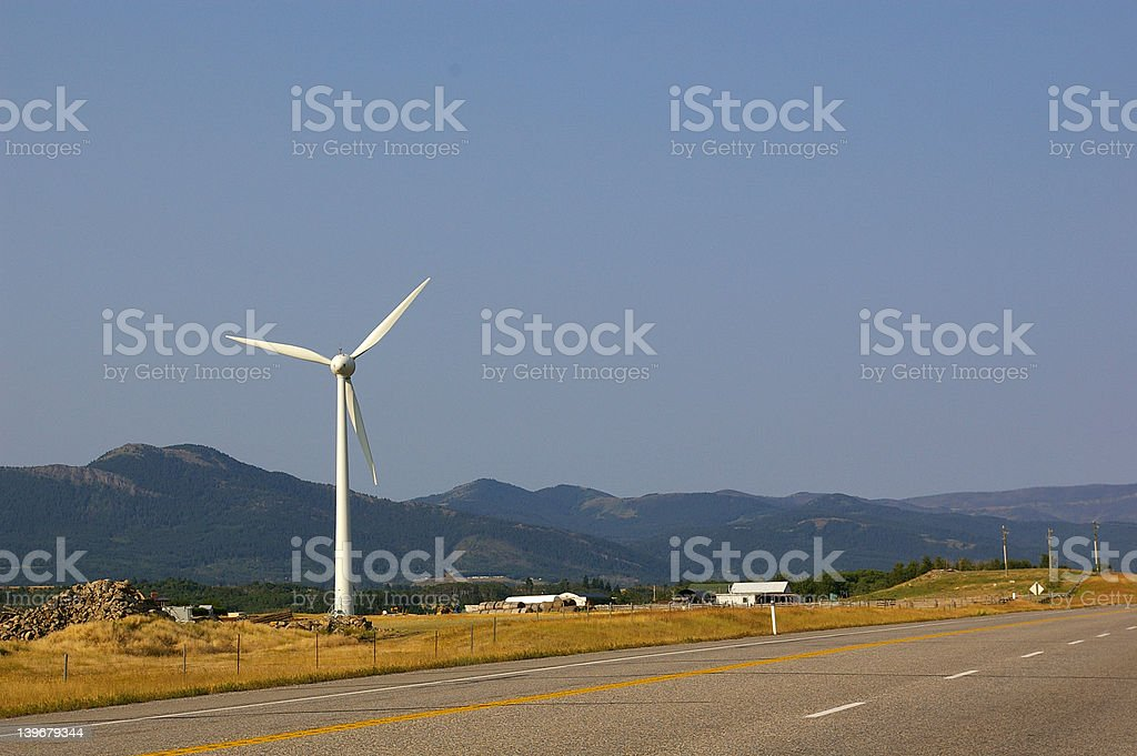 Small Windfarm royalty-free stock photo