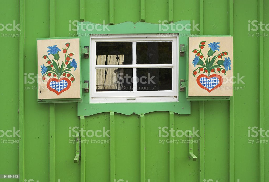 Small Window on Boat House royalty-free stock photo