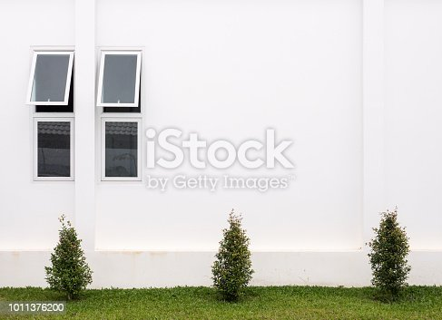 istock Small window was opened on the back side wall. 1011376200