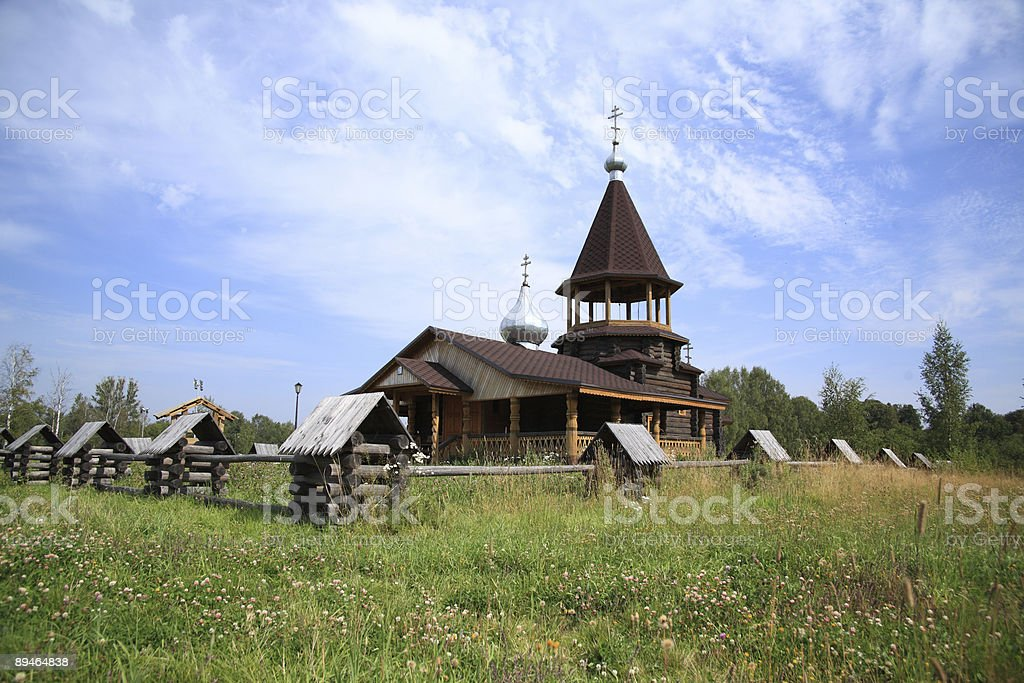 Small wooden church royalty-free stock photo