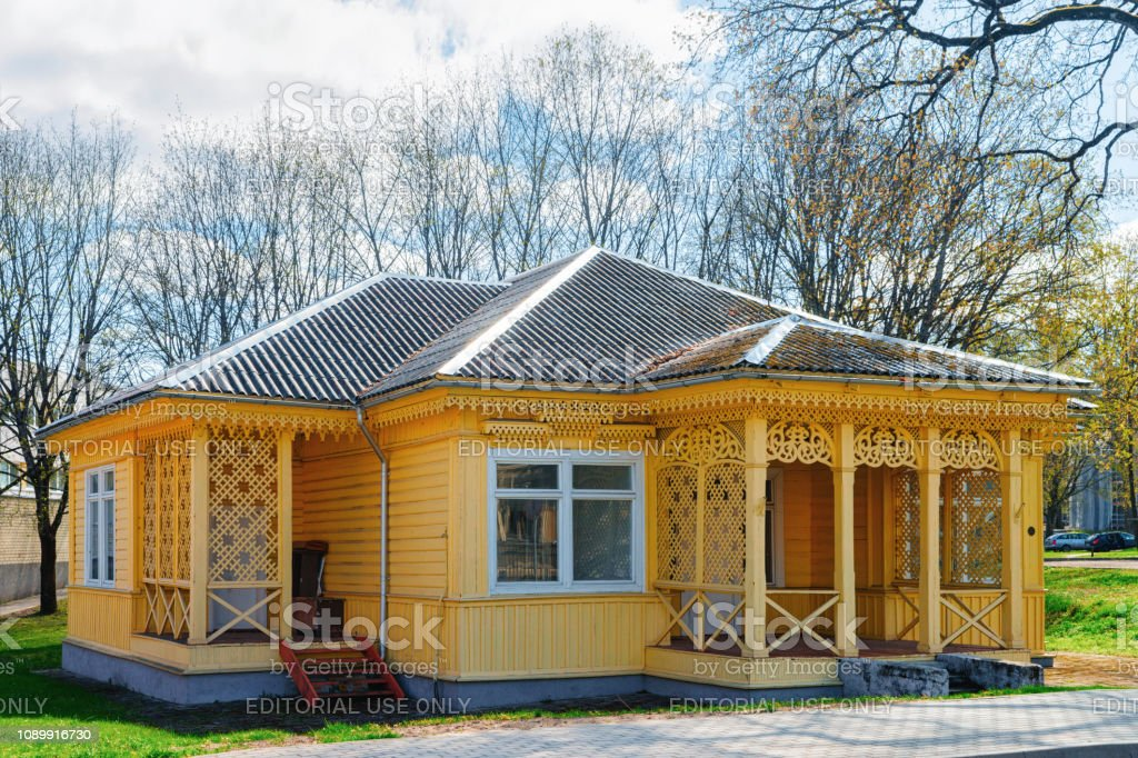 Small Wooden Country House With Terrace Vilnius Stock Photo Download Image Now Istock