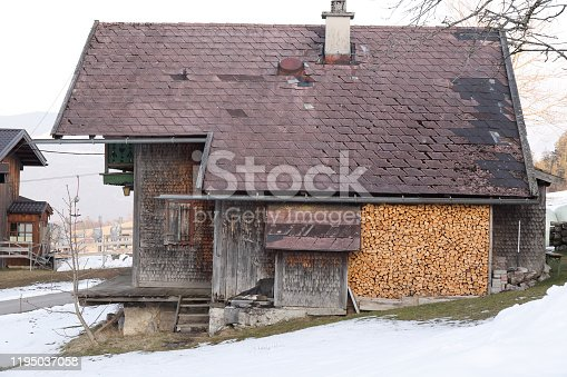 Small wooden house in Austria