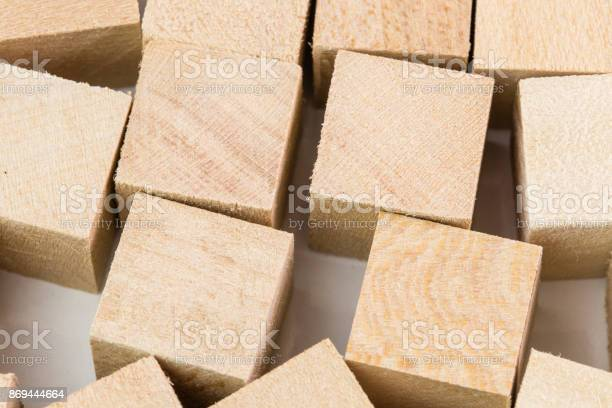 small wooden square cubes small wooden square cubes Architecture Stock Photo