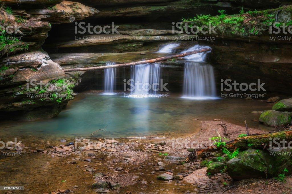 A Small Woodland Waterfall stock photo