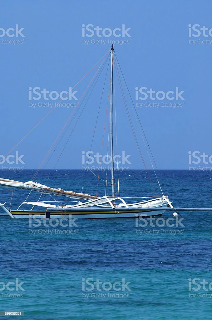 Small yacht royalty-free stock photo