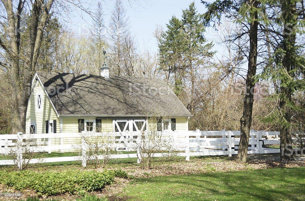 Small Yellow Barn royalty-free stock photo