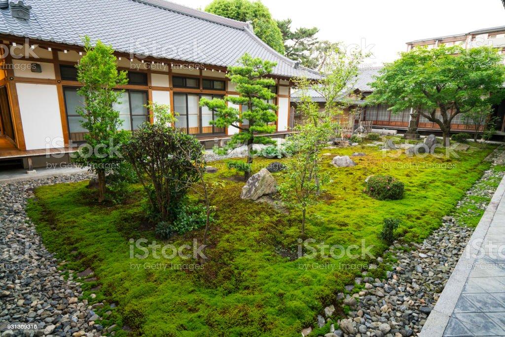 Kleine Zen Garten Zwischen Chionji Tempel Wande In Kyoto Japan Stock