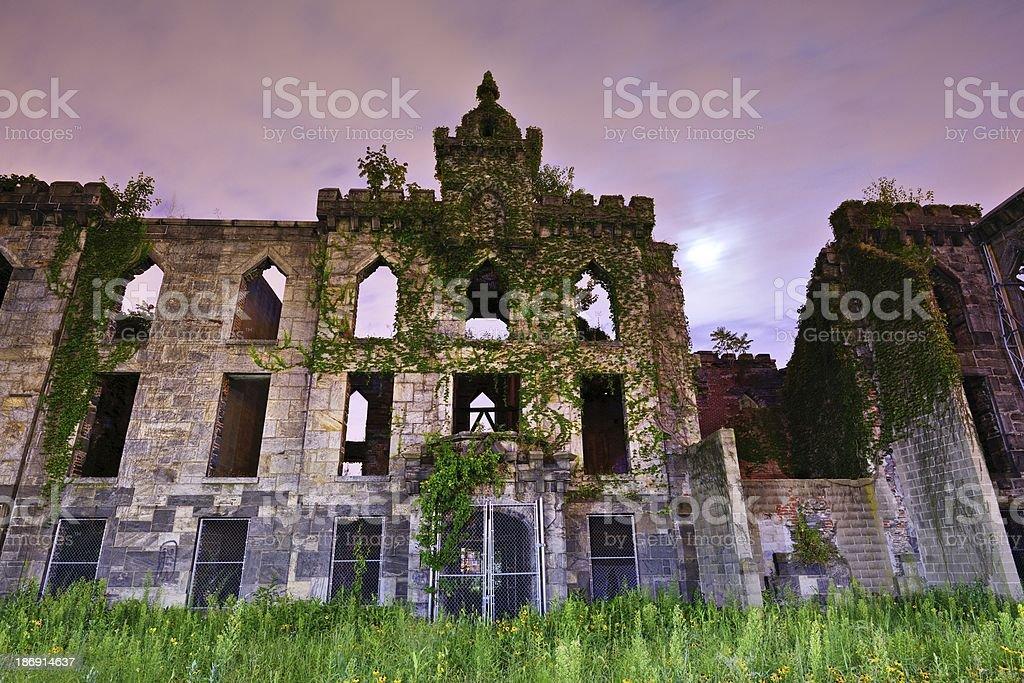 Smallpox Hospital Ruins stock photo