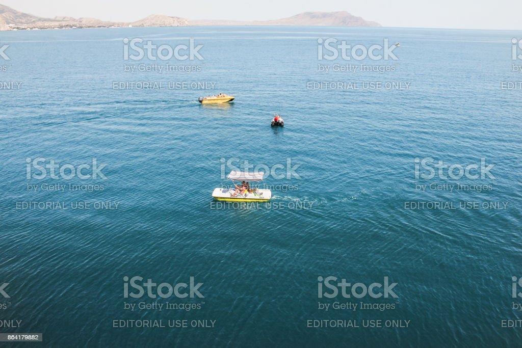 Small-sized sea transport. royalty-free stock photo