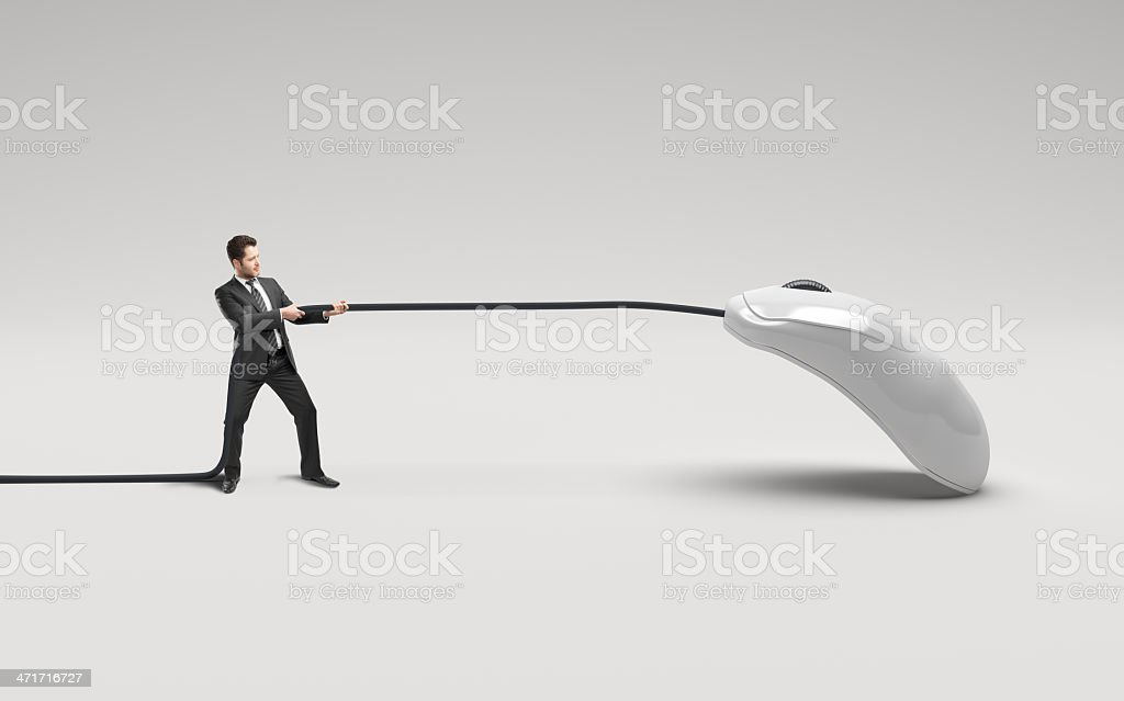 sman and mouse stock photo