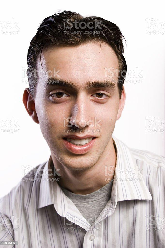 Smarmy Teen stock photo