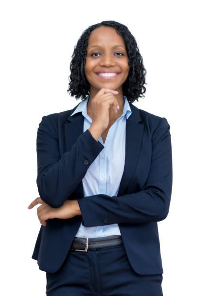 Inteligente mujer de negocios afroamericana - foto de stock