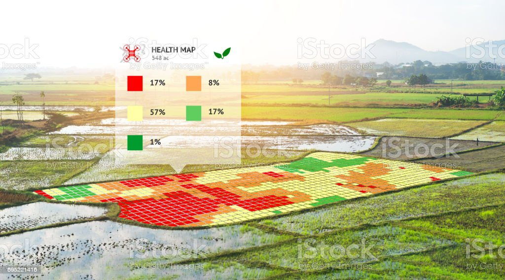 Smart Agriculture Farm Precision Farming Concept Nir Images