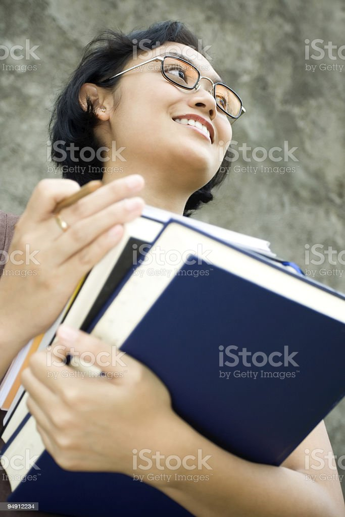 smart and confident female professional teacher royalty-free stock photo