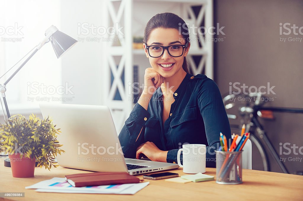 Smart and confident. stock photo