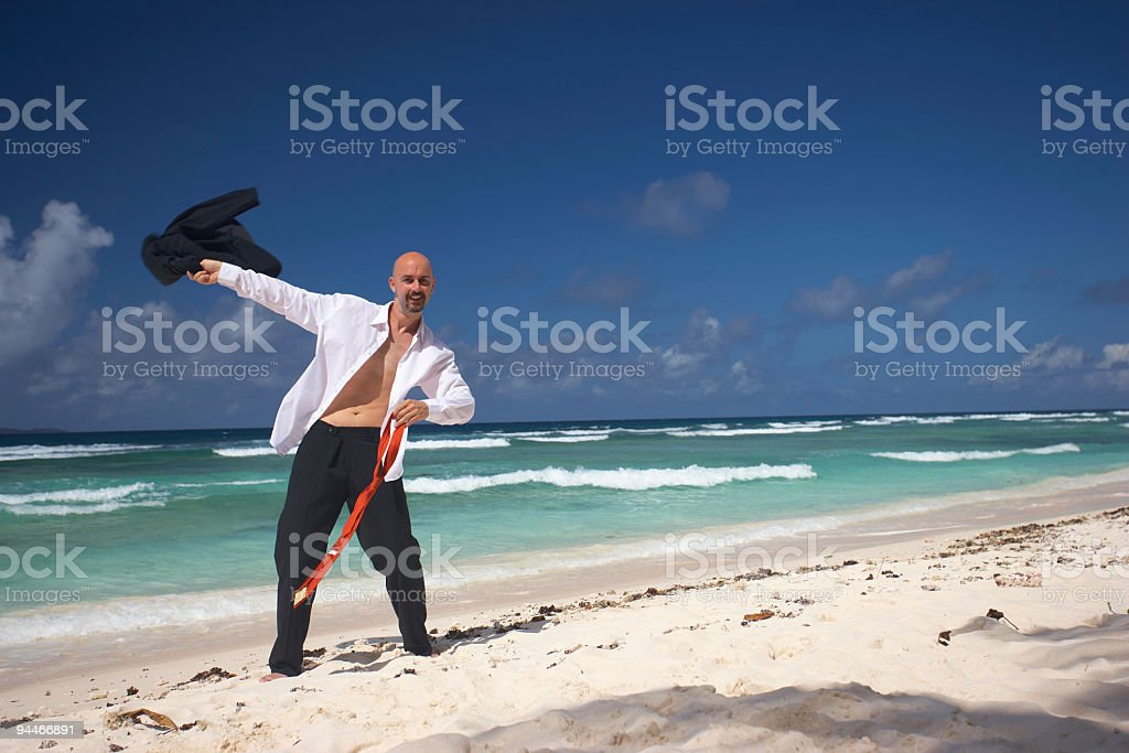 smart and very happy businessman royalty-free stock photo