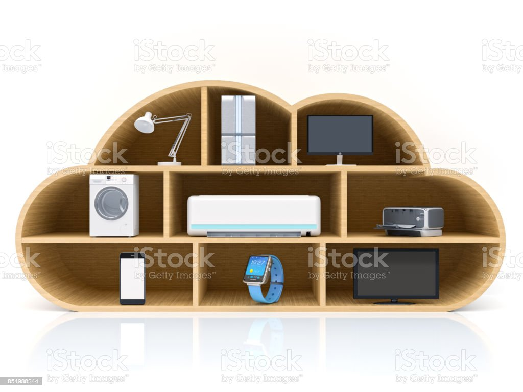 Smart appliances in network stock photo