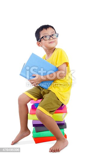683105722 istock photo Smart Asian Boy with books 476495396
