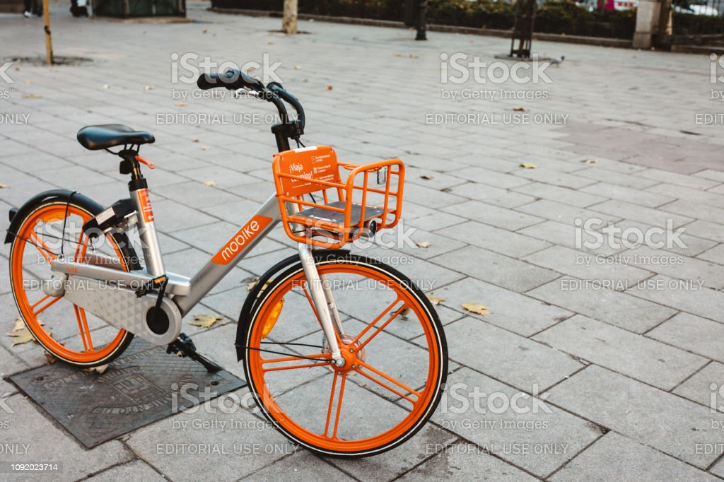 smart bike sharing service in Europe stock photo