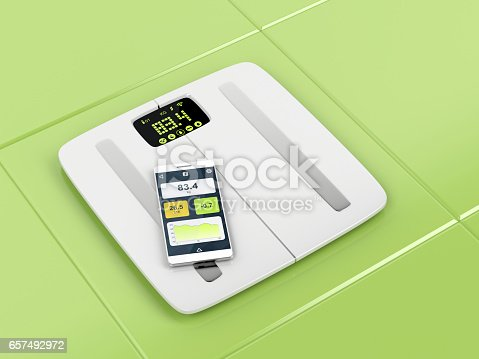 istock Smart body analyzer and smartphone 657492972