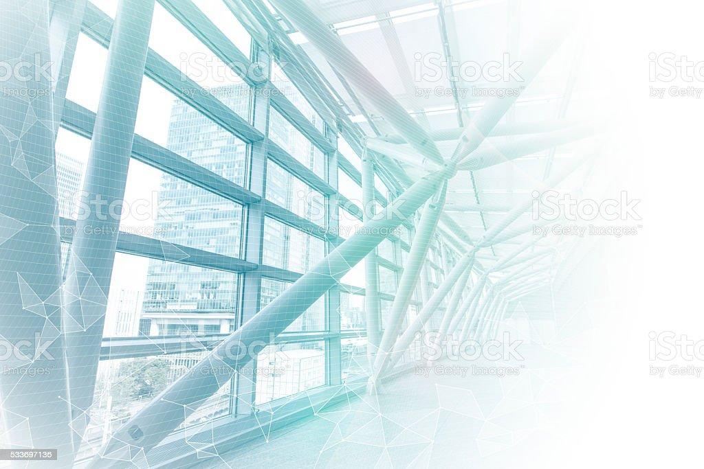 smart building and mesh network, abstract image visual bildbanksfoto