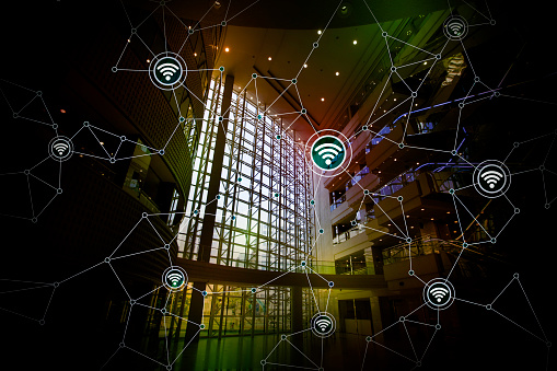 680917060 istock photo smart building and wireless communication network, abstract image visual, internet of things 661555642
