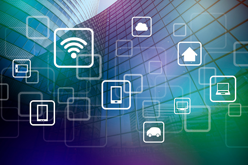 680917060 istock photo smart building and wireless communication network, abstract image visual, internet of things 661555922