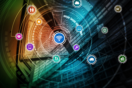 680917060 istock photo smart building and wireless communication network concept, Internet of Things, Information Communication Network, Smart City, Smart Grid, abstract image visual 800002880