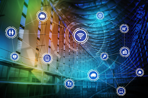680917060 istock photo smart building and wireless communication network concept, Internet of Things, Information Communication Network, Smart City, Smart Grid, abstract image visual 800002890