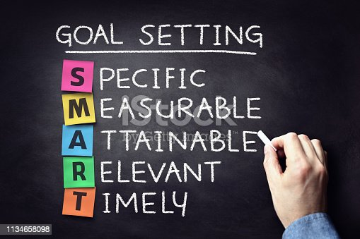 istock Smart business goal setting concept 1134658098