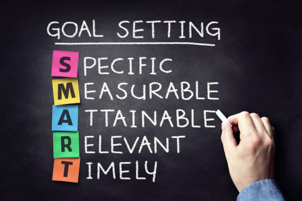 Smart business goal setting concept stock photo