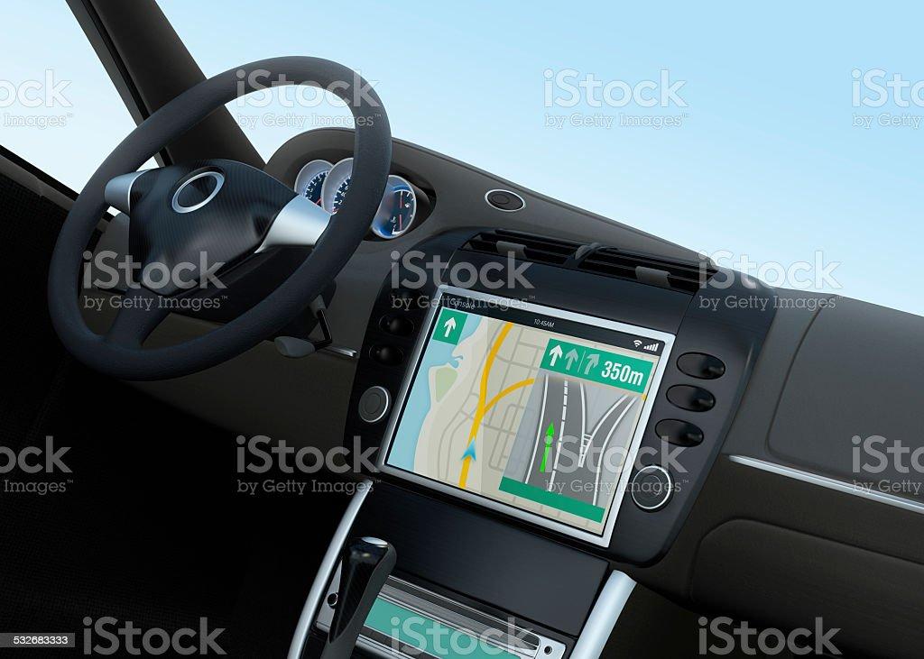 Smart car navigation interface in original design stock photo