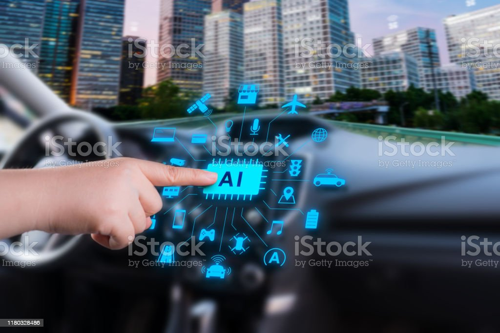 smart car with artificial intelligence smart car with artificial intelligence Application Form Stock Photo