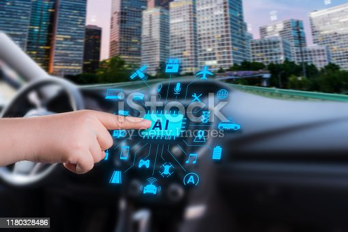 692819426istockphoto smart car with artificial intelligence 1180328486