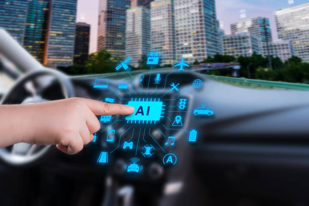 smart car with artificial intelligence stock photo